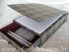 Kit para mesa: bloco com gaveta - Cartonagem