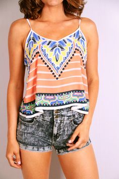 Show Your True Colors Top orange and blue outfits