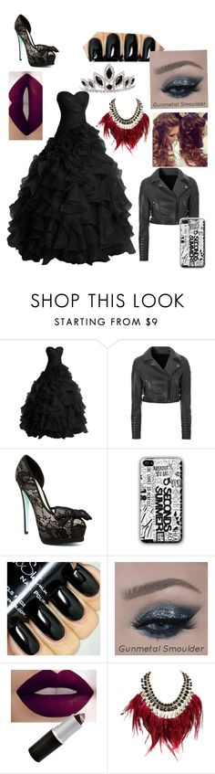 """""""Emo Prom Queen"""" by suprrgurl ❤ liked on Polyvore featuring Glamorous, Betsey Johnson and WithChic"""