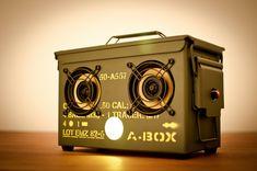 Cool military speaker box.