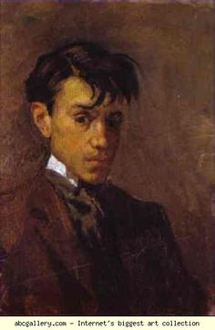 "Pablo Picasso,  ""Self-Portrait,"" 1896,  Oil on canvas,  Museo Picasso"