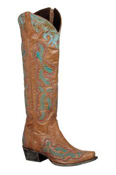 Lane Boots Amber Tan Women's Cowgirl Boots (LB0078B)