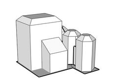 MechCommander 2 - Chemical Plant Free Building Paper Model Download - http://www.papercraftsquare.com/mechcommander-2-chemical-plant-free-building-paper-model-download.html#Battletech, #BuildingPaperModel, #ChemicalPlant, #MechCommander, #MechWarrior