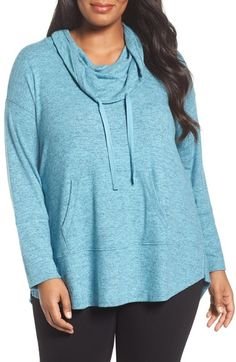 Sejour Drawstring Cowl Neck Pullover (Plus Size) available at #Nordstrom $79