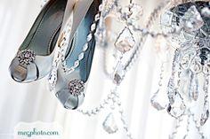 "Absolutely Audrey bridal shoe clips. Style name ""Juliette"". #shoeclips #bridal #shoes"