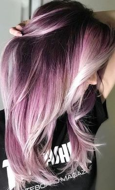42 Amazing Shade Root Pastel Pink Hair Color Ideas for .- 42 Amazing Shade Root Pastel Pink Hair Color Ideas for # Amazing # for Color Pink - Pastel Pink Hair, Hair Color Pink, Cool Hair Color, Ombre Purple Hair, Silver Purple Hair, Dark Pink Hair, Dyed Hair Ombre, Black Ombre, Pink Black