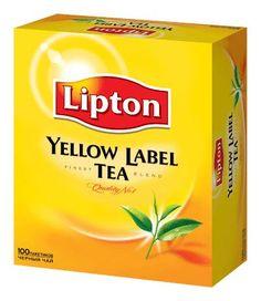Lipton Yellow label 100 Tea Bags - The Single Origin Pure Ceylon Tea Lipton Tea Bags, Tea Labels, Vietnamese Iced Coffee, Coffee Recipes, Tea Party, The 100, Snack Recipes, Yellow, Orange