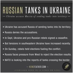 Ukraine has accused Russia of sending tanks into its territory after tensions have risen due to pro-Russian rebels holding elections.