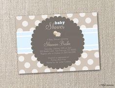 DIY Printable Invitation. Little Lamb Neutrals Baby Shower Invitation. DIY by tot.ful mem.o.ries.