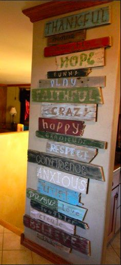 sign board out of recycled wood