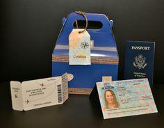 Passports & Boarding pass made using Print Shop