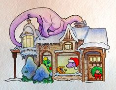Sauropod Santa is the logical choice to delight all your holiday chimney deliveries. www.4dogarts.com