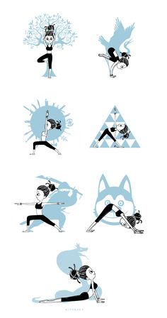 42 Trendy Yoga Ilustration Drawing Behance - Yoga is a group of physical Yoga Mantras, Yoga Meditation, Kids Yoga Poses, Yoga For Kids, Yoga Art, My Yoga, Yoga Inspiration, Yoga Drawing, Yoga Illustration
