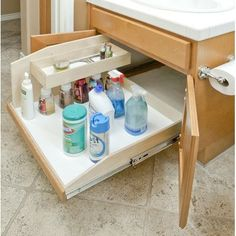 "Slide-A-Shelf Full Extension Baltic Birch Sink Caddy Slide-Out Shelf, 15"" wide by 22.5"" deep by 16"" high"