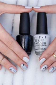 Venice Collection by OPI | Stone Marble Nail Lacquer Art - loveeeee the grey white