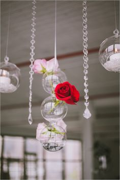 hanging floral ball decor