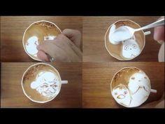Watch a talented artist create delicious Spirited Away latte art