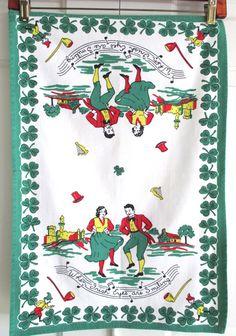 Vintage Towel Irish St. Patrick's Day at NeatoKeen on Etsy
