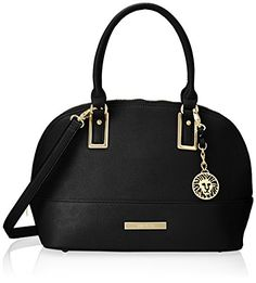 Anne Klein Shimmer Down Satchel Handbag, Black, One Size List Price: $89.00 Sale Price:$53.40 []