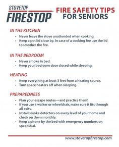 Fire Safety Tips for Seniors