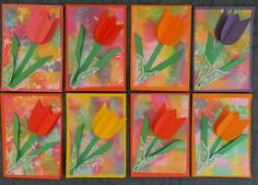 Spring Art Projects, Spring Crafts For Kids, Diy For Kids, Kindergarten Art Projects, School Art Projects, 3rd Grade Art, Preschool Art, Cute Crafts, Art Activities