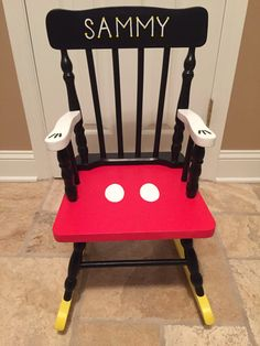 Mickey Mouse Rocking Chair by JHatalaArt on Etsy