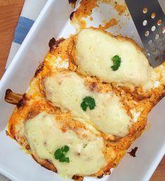 Garlic Bread, Pork Recipes, Meatloaf, Lasagna, Mashed Potatoes, Food And Drink, Baking, Ethnic Recipes, Foods