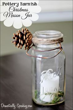 Pottery Barn Inspired Winter Mason Jar