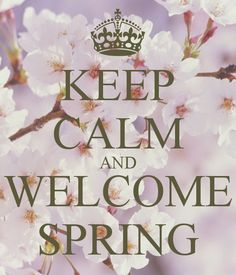 KEEP CALM AND WELCOME SPRING - KEEP CALM AND CARRY ON Image Generator