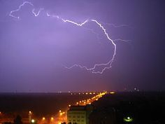 Lightning Fire From The Sky | 19125-stock-photo-sky-city-clouds-rain-lightning-thunder-lightning.jpg