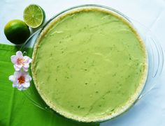 SCD Key Lime Pie (*Substitute honey for agave nectar...)