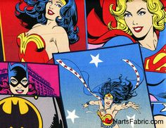 Retro DC Girl Power Fabric