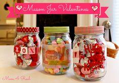 Mason Jar Valentine's from www.mom4real.com