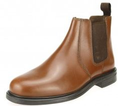 Silver Street Womens Brown Low Heeled Suede Chelsea Dealer Pull On Ankle Boots