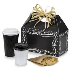 Chalkboard Borders Gable Boxes can be personalized with chalkboard markers. See Nashville Wraps entire Chalkboard gift wrapping collection! #chalkboard