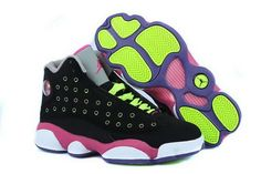c32589bbb02 Find Girls Air Jordan 13 Retro Black-Pink/Venom Green For Sale Lastest  online or in Pumaslides. Shop Top Brands and the latest styles Girls Air  Jordan 13 ...