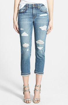 Joe's Slim Boyfriend Crop Jeans (Gessa) available at #Nordstrom