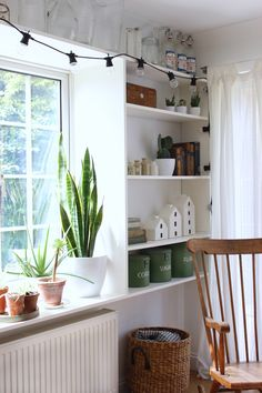 nicely styled shelves