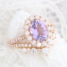 Purple Engagement Rings, Alternative Engagement Rings, Gemstone Engagement Rings, Wedding Ring Bands, Wedding Jewelry, Plain Gold Bangles, Purple Rings, Purple Sapphire, Diamond Bands
