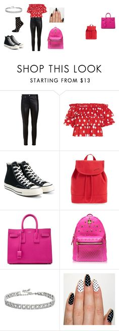 """""""Minnie Mouse"""" by lacey-h001 ❤ liked on Polyvore featuring Givenchy, Caroline Constas, Converse, STATE Bags, Yves Saint Laurent, MCM, Kenneth Jay Lane and Happy Socks"""