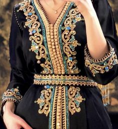Moroccan Caftan, Moroccan Style, Caftans, Dresses With Sleeves, Motifs, Long Sleeve, Career, Traditional, Clothes