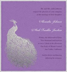 Plated Peacock - Wedding cards