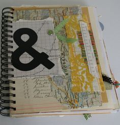 Here and there Journal - live this style. Maybe I need to get a bind-it-all.