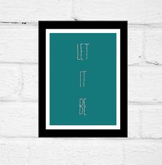 Let It Be The Beatles Framed Cardstock by cardinalandfitz on Etsy
