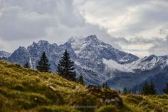 "View over to a mountain, called ""Kleiner Daumen"" (little thumb) in Hinterstein, Germany - Allgäu."
