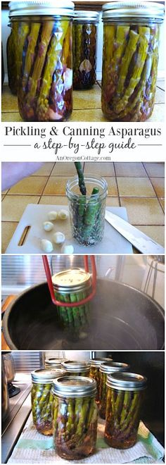 Make your own pickled asparagus easily with this step-by-step guide with recipe and tutorial to keep them in the fridge or water-bath can for shelf storage.