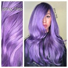 Amazing soft lavender hair from Guy Tang - Hair   Bellashoot