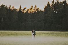 Gorgeous, foggy wedding portrait by Tyler Branch