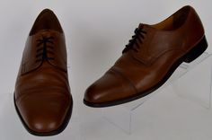 Florsheim Imperial mens brown leather cap toe lace up oxford Sz 10.5 M Pre-owned #Florsheim #Oxfords