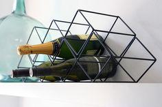 Black Modern Wine Rack